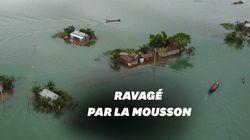 Le Bangladesh ravagé par la mousson, un tiers du pays sous