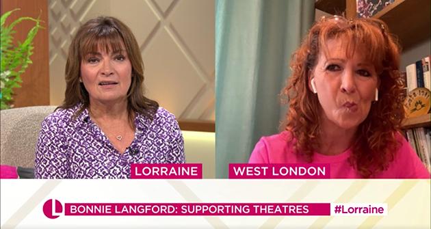 Lorraine Kelly interviewed Bonnie Langford on her