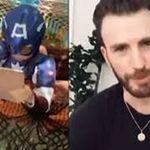 Menino ganha mensagem de Chris Evans e escudo do Capitão América após salvar irmã mais