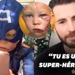 Captain America remercie ce petit garçon qui a sauvé sa sœur d'une attaque de