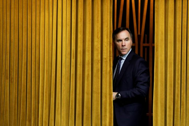 Finance Minister Bill Morneau arrives to a meeting of the special committee on the COVID-19 pandemic,...