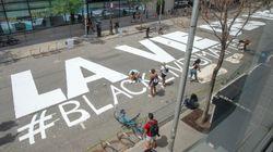 Montréal a maintenant sa fresque de rue «Black Lives Matter»... en