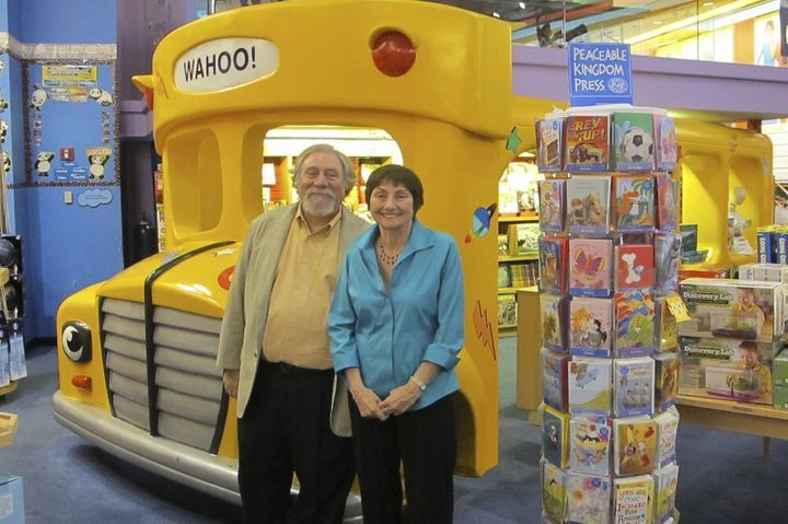 """Author Joanna Cole, right, and illustrator Bruce Degen - the minds behind """"The Magic School Bus."""""""