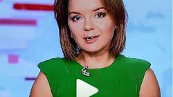 Η επική αντίδραση παρουσιάστριας που έχασε το δόντι της εν ώρα τηλεοπτικής