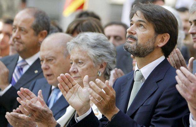 Jordi Pujol (i), Marta Ferrusola y Oriol Pujol