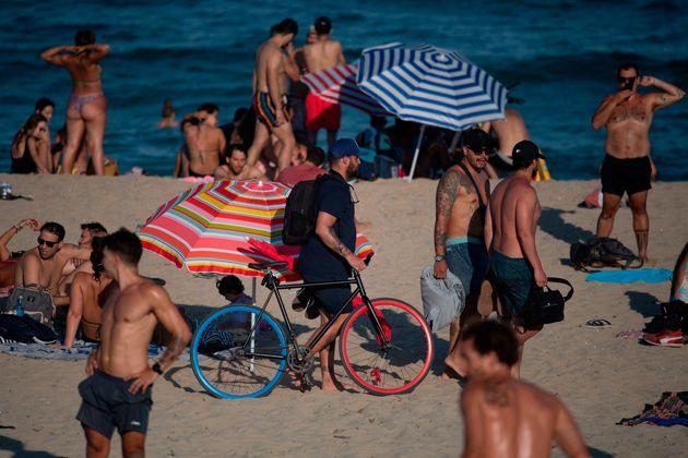 Así estaban las playas de Barcelona el pasado 1 de