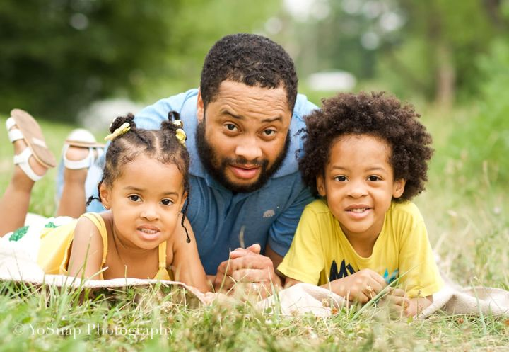 Chad Roundtree and his two kids were just one of 20 families taking part in the Black Fatherhood photography project.