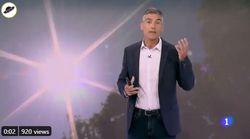 El hombre de 'El Tiempo' de TVE se sale de su tono habitual para lanzar este 'hachazo' en pleno