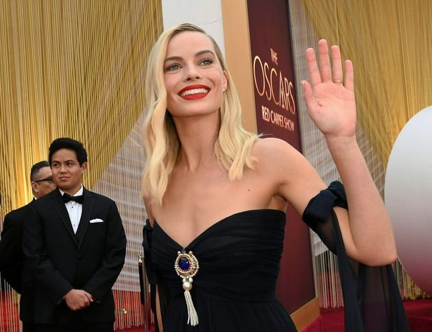 Margot Robbie arrives for the 92nd Oscars at the Dolby Theatre in Hollywood, California on February 9,...