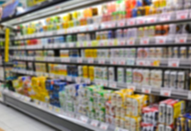 Supermarket shelf defocus