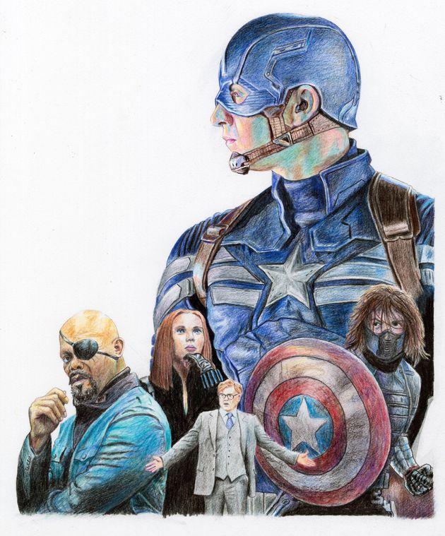 크리스 에반스가 용감한 어린이를 위해 잠시 다시 '캡틴 아메리카'가 된