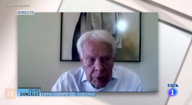 Felipe González, este viernes en 'Los