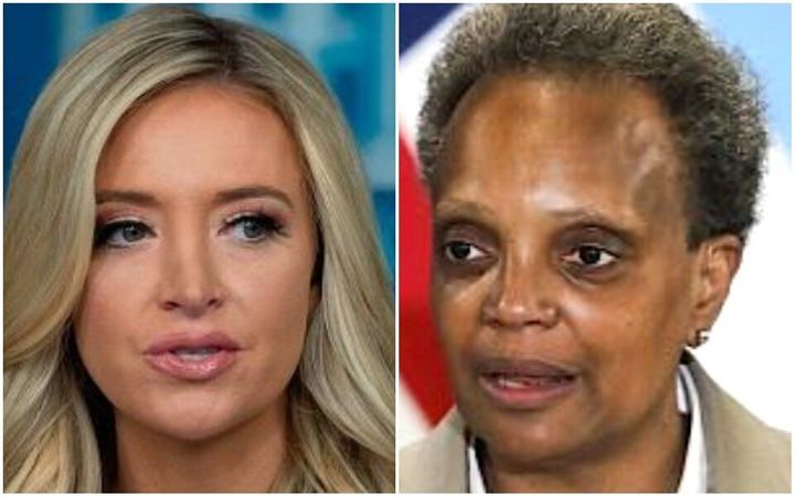 White House press secretary Kayleigh McEnany and Chicago Mayor Lori Lightfoot exchanged insults on Thursday.