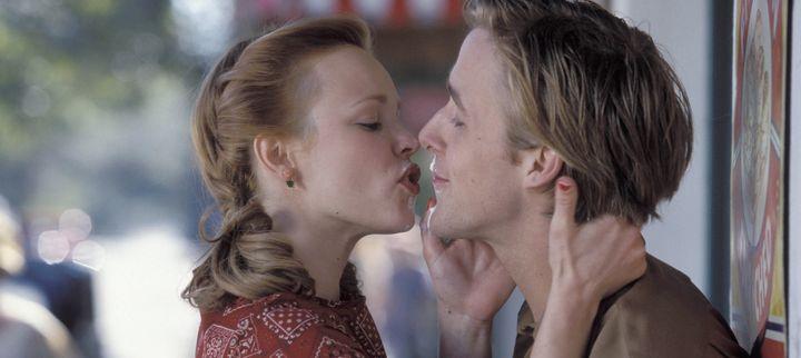 "Rachel McAdams and Ryan Gosling in ""The Notebook"" on Netflix."