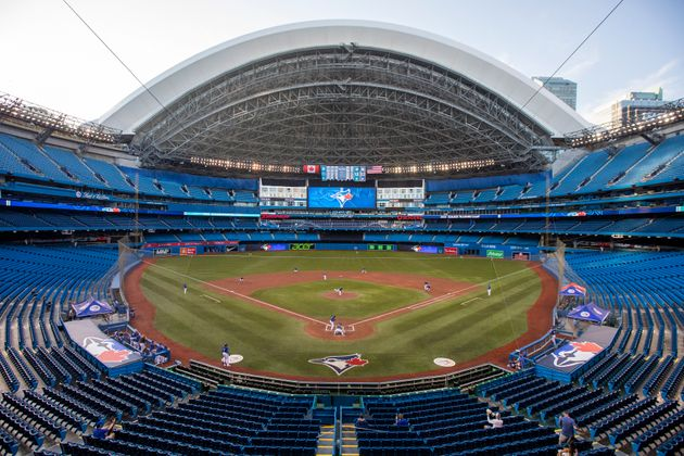 The Rogers Centre is seen here in Toronto during a Blue Jays intrasquad game on July 9, 2020. A quarantine...