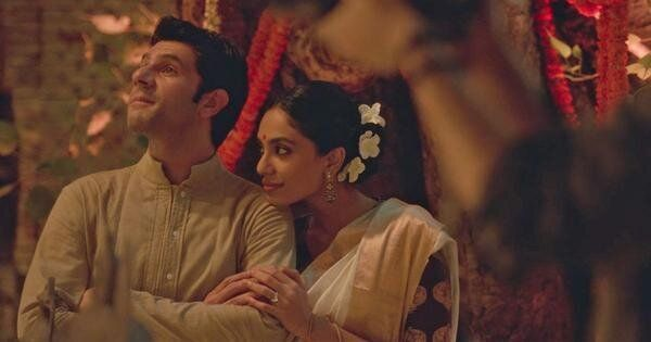 Arjun Mathur and Sobhita Dhulipala in a still from Amazon's 'Made in Heaven'