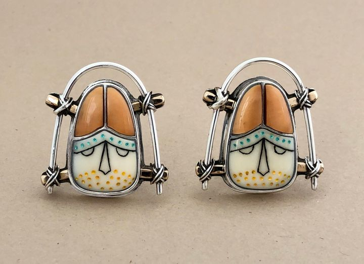 Chugach Maskette Earrings, $  4,200