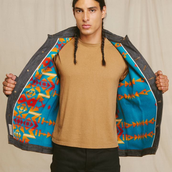 Heritage Coat in turquoise, $500