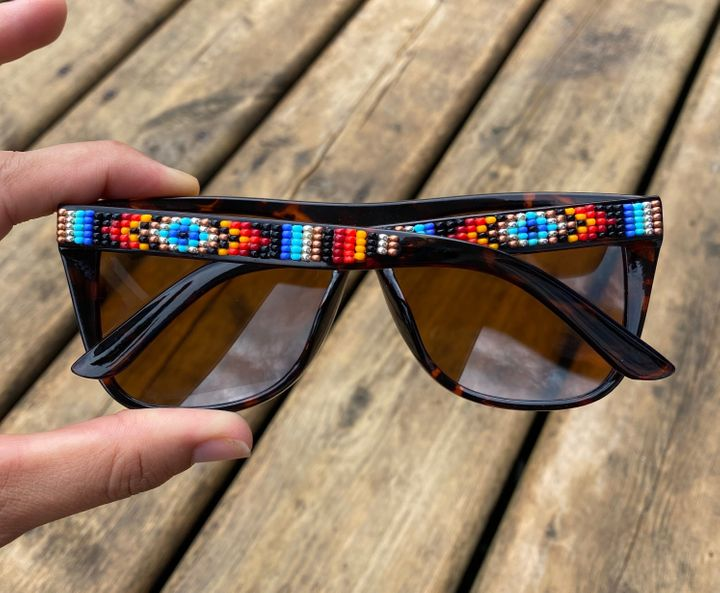 "Similar glasses sell for <a href=""https://www.etsy.com/listing/524740845/sale-hand-beaded-sunglasses-boss?ref=shop_home_active_12"" target=""_blank"" rel=""noopener noreferrer"">around $  35</a>."