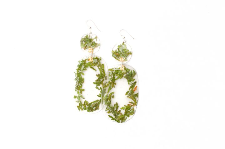 Warmth Giizhooshin Cedar Earrings in gold, $  120