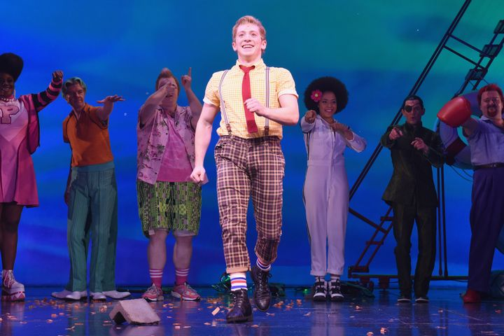 """In 2017, Slater made his Broadway debut in""""SpongeBob SquarePants: The Broadway Musical,"""" earning a Tony Awa"""