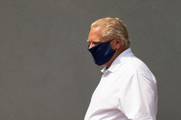 Ontario Premier Doug Ford is pictured as he visits a bakery in Toronto, on July 10,
