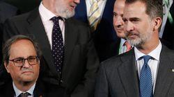 Felipe VI anuncia un viaje a Cataluña y Torra recuerda que hay que evitar