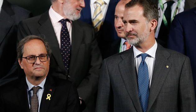 Torra y Felipe VI en mayo de