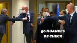 Au sommet européen, la chorégraphie des dirigeants pour se saluer en respectant les gestes
