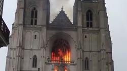 Un incendio calcina gran parte de la histórica catedral de Nantes