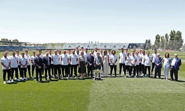 Acto de celebración de la Liga del Real