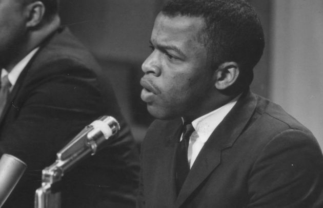 1964년 4월16일, 미국 신문편집인협회(ASNE) 모임에서 연설하는 존