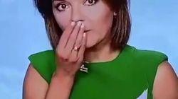 Cette présentatrice ukrainienne perd une dent en