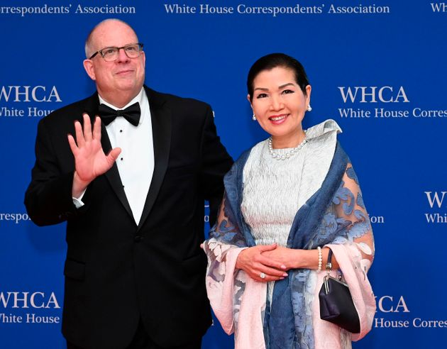Maryland Gov. Larry Hogan and his wife, Yumi