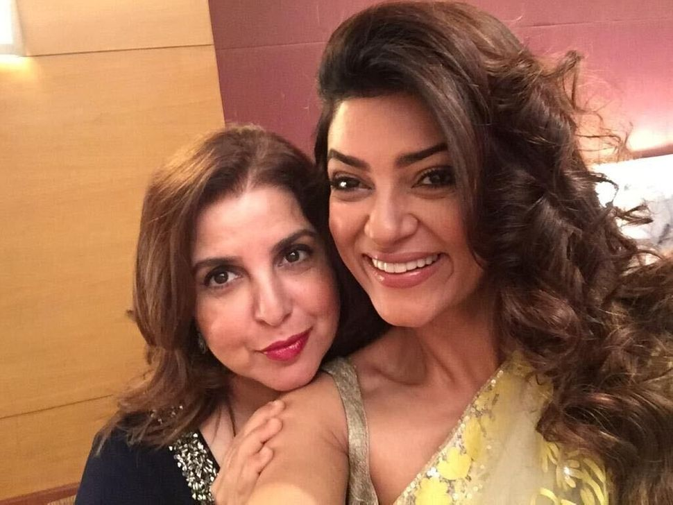 Sushmita Sen with Farah Khan.