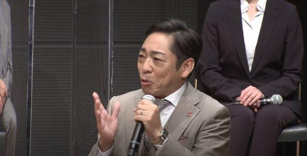 7月11日に行われた記者会見で大和田暁役について語る香川照之さん