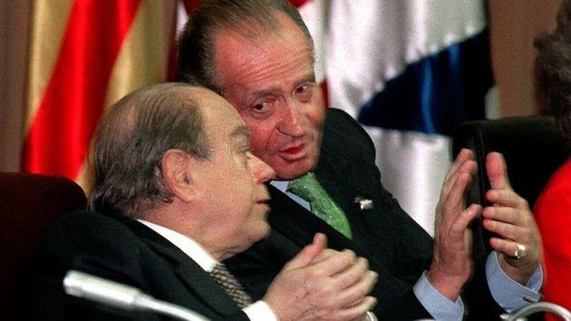 El rey emérito Juan Carlos I y Jordi Pujol, en una foto de