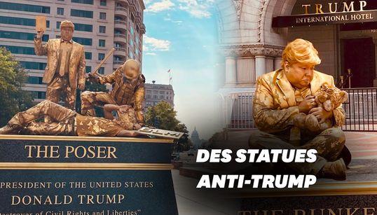 Trump défend les statues? Des artistes créent des statues vivantes