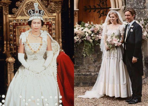 Beatrice ricicla l'abito della regina e mette da parte il padre Andrea: le foto delle