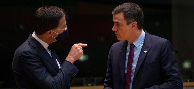 Mark Rutte y Pedro Sánchez, este viernes en