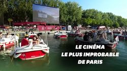 Le ciné flottant a fait le plein pour le lancement de Paris