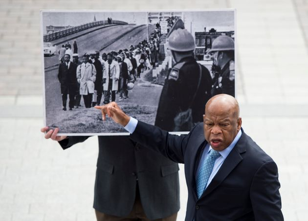 UNITED STATES - APRIL 15: Civil rights icon Rep. John Lewis, D-Ga., recounts his experience in Selma,...