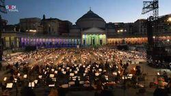 La Tosca risuona in Piazza del Plebiscito a Napoli. E' il San Carlo che riapre i battenti