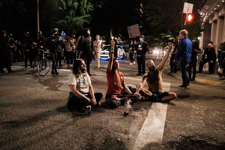 Manifestation contre les violences policières à Portland, Oregon