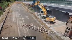 Πώς κατεδαφίζεται μια παλιά γέφυρα σε 24 ώρες και λειτουργεί η