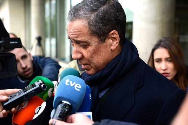 Eduardo Zaplana, fotografiado en los juzgados de Valencia el 18 de febrero de 2019 (Francisco Martínez/Europa...