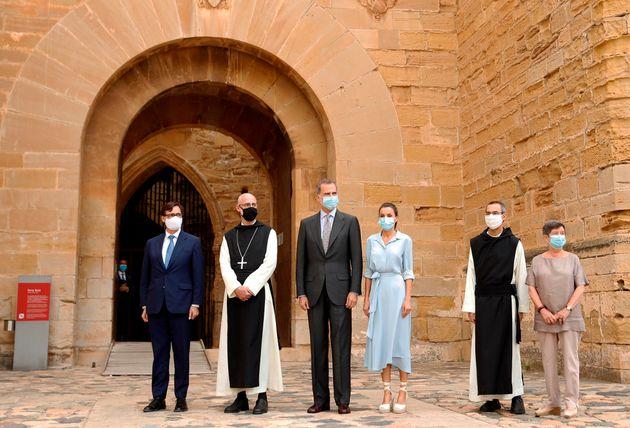 Los reyes visitan el Monasterio de