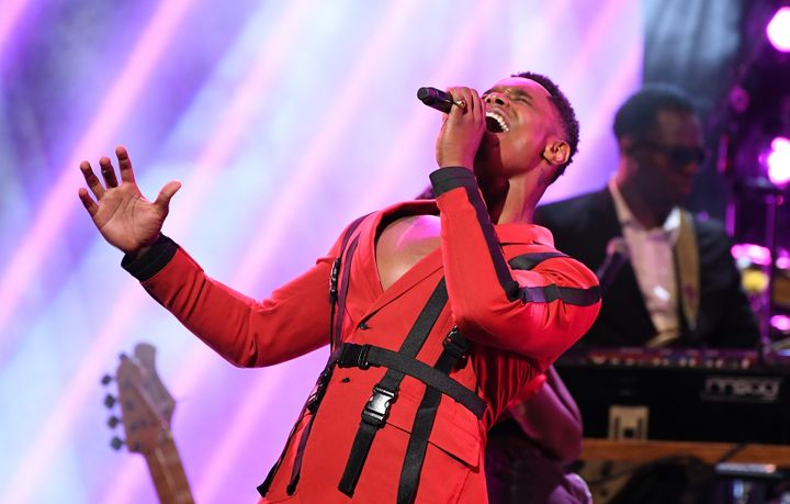 Singer Avery Wilson performing onstage during 2019 Black Music Honors.