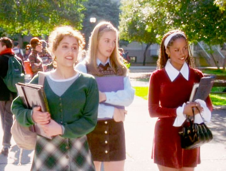 """Brittany Murphy as Tai, Alicia Silverstone as Cher and Stacey Dash as Dionne in 1995's """"Clueless."""""""