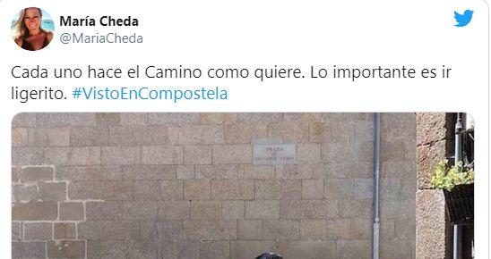 Captura de Twitter de la periodista María